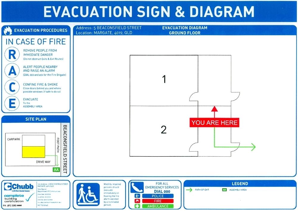 Image Of A Unit Complex Evacuation Route