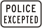 Police excepted