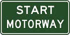 Start motorway sign