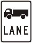 Truck lane sign