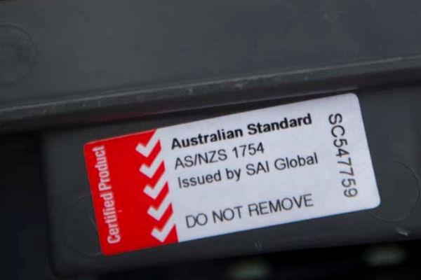 Australian standard sticker