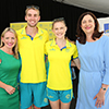 The Honourable Kate Jones MP, Cedric Dubler, Caitlin Sargent-Jones and The Honourable Annastacia Palaszczuk MP, Premier and Minister for Trade