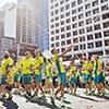 Athletes marching
