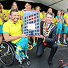 Kurt Fearnley and The Right Honourable, the Lord Mayor of Brisbane, Councillor Graham Quirk