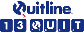 Quitline logo - call 13 QUIT on 13 78 48
