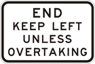 End keep left unless overtaking sign