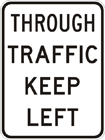 Through traffic keep left