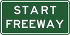 Start freeway sign