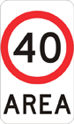 Area speed zone sign
