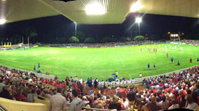 View of playing field from the grandstand.
