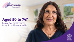 Aged 50 to 74? Book a free breast screen today, it could save your life