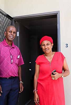 Inala public housing tenants, Abrahet and Sare