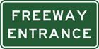 Freeway entrance