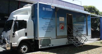 Mobile customer service units | Transport and motoring | Queensland