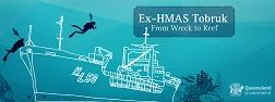 Ex-HMAS Tobruk drawing