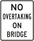No overtaking on bridge