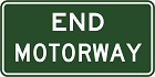 End motorway sign
