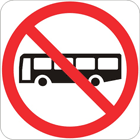 No buses sign
