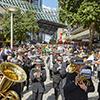 Band leading parade