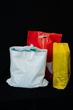 Single-use heavy weight department store plastic bags