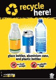 Imagery: Glass juice bottle, aluminium can, plastic bottle