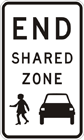 End shared zone sign