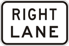Right lane sign