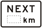 Distance and location sign