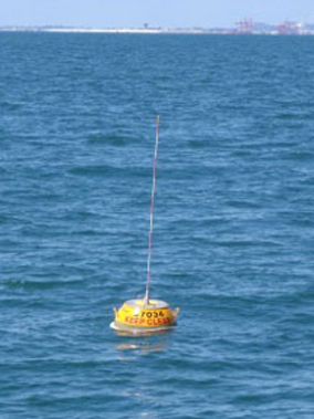 One of the wave monitoring buoys used in Queensland waters
