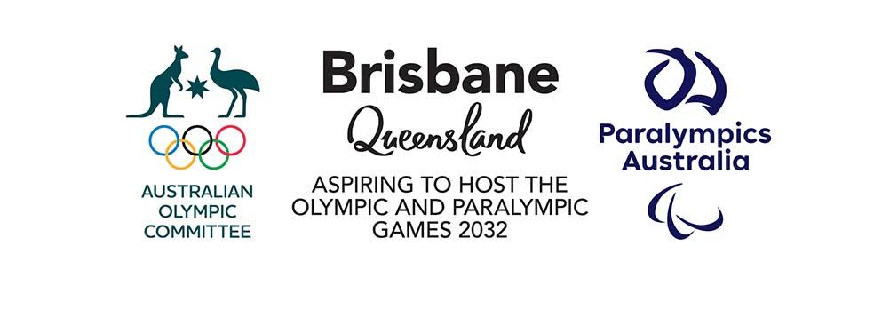 Australian Olympic Committee, Tourism Queensland, Paralympics Australia logos