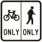 Separated path sign