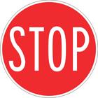 Stop sign (hand held)