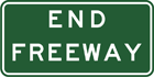End freeway sign