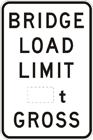 Bridge load limit sign