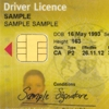 Sample driver licence showing the customer reference number