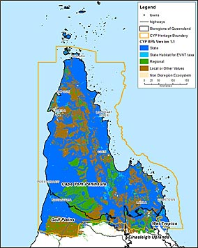 Map Of Australia Cape York Peninsula.Cape York Peninsula Heritage Area Biodiversity Planning Assessment