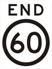 End speed limit sign