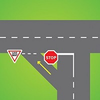 A slip lane is an area of road for vehicles turning left that is separated from other parts of the road by a painted island or traffic island