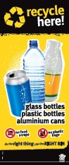 Imagery (slim): Glass juice bottle, aluminium can, plastic bottle