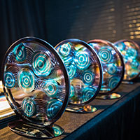 2017 Queensland Reconciliation Awards trophies