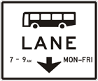 Bus lane ahead sign