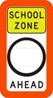School zone speed limit signs