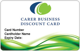 carer business discount card - Discount Business Cards