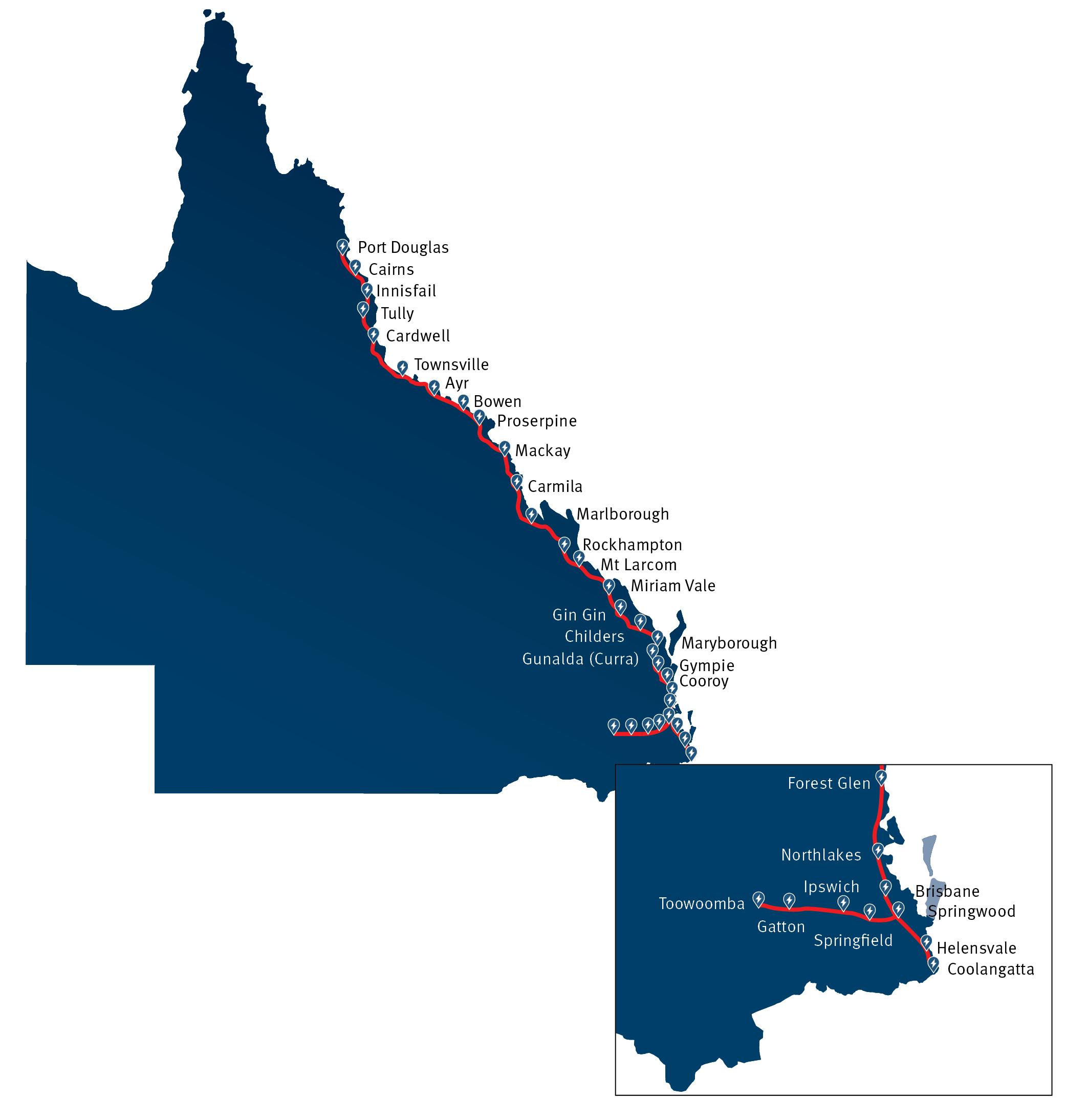 Queensland electric vehicle super highway