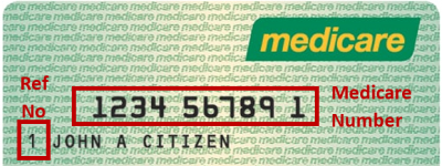 Your full medicare number includes the 10 digits on the front of the card, plus a reference number which is shown before your name, if you are first on the card your medicare number is your card number with an extra 1 at the end