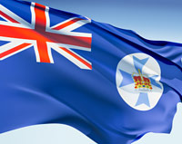 The Queensland state flag.