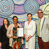 2017 Queensland Reconciliation Awards—Partnership award finalist—KickArts Contemporary Arts and Badu Art Centre for Sageraw Thonar Exhibition and Catalogue