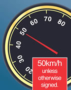 50km/h speedometer