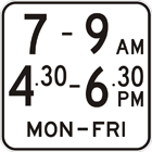 Time of operation sign
