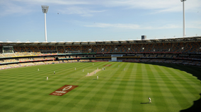 Cricket being played at The Gabba stadium